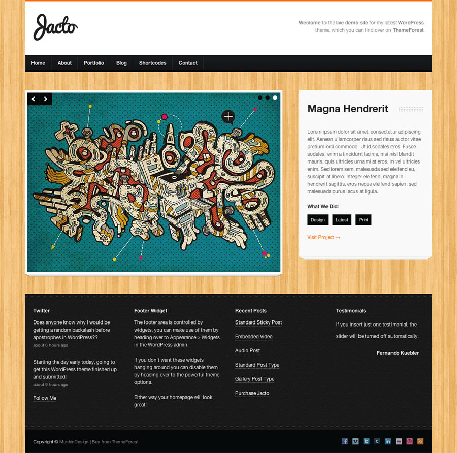 Jacto WordPress Portfolio - Portfolio single item page