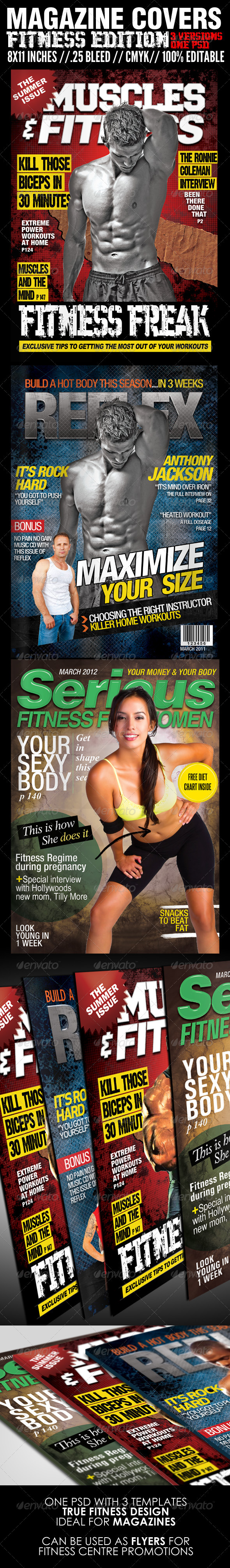 Magazine Cover Templates - Fitness Edition - Magazines Print Templates