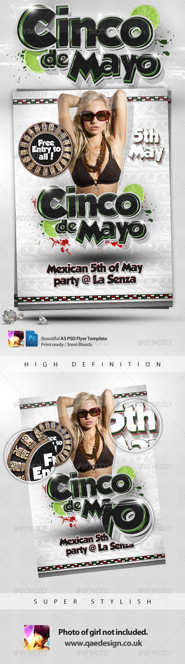 Cinco de Mayo Flyer Template - Holidays Events