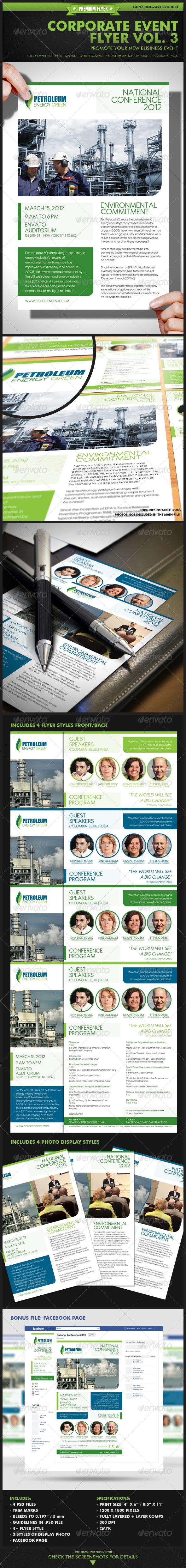 Corporate Event Flyer Vol. 3  - Corporate Flyers