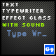 Text Typewriter Effect Class With Sound - ActiveDen Item for Sale