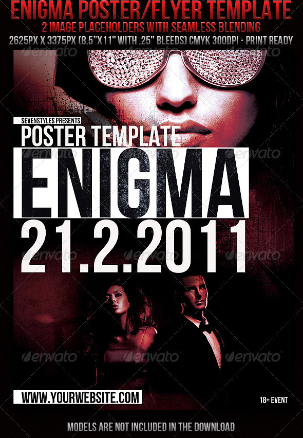 GraphicRiver Enigma Poster flyer Template 157398