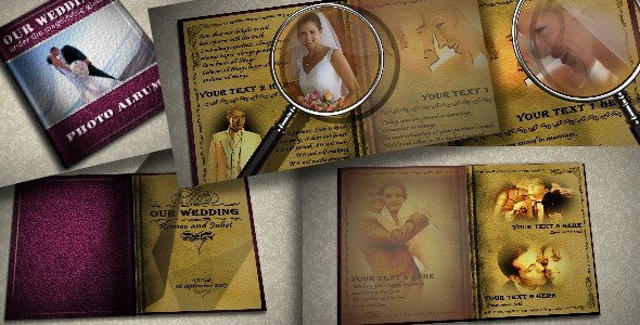 After Effects Project - VideoHive Wedding Photo Album 232355