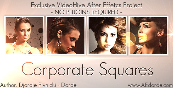 After Effects Project - VideoHive Corporate Squares 2013047