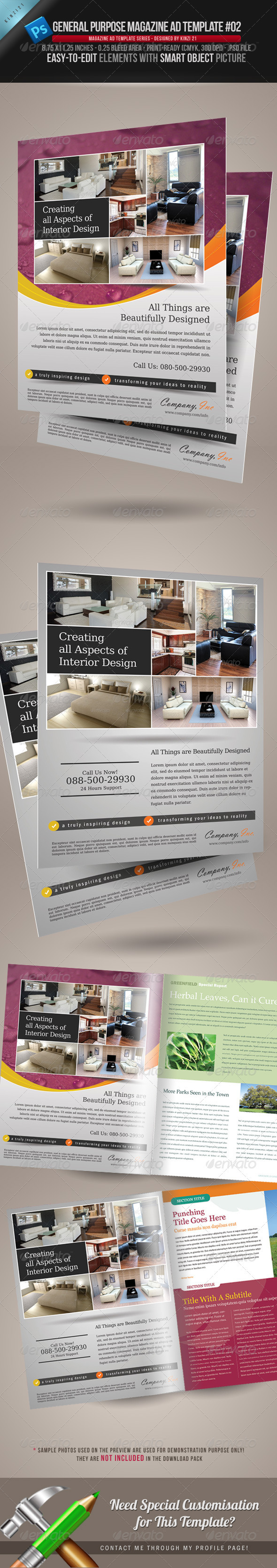 GraphicRiver General Purpose Magazine Ad Template #02 621476