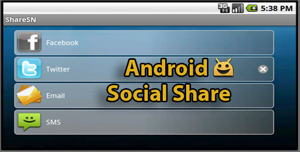 Android Share Social Network plugin - CodeCanyon Item for Sale