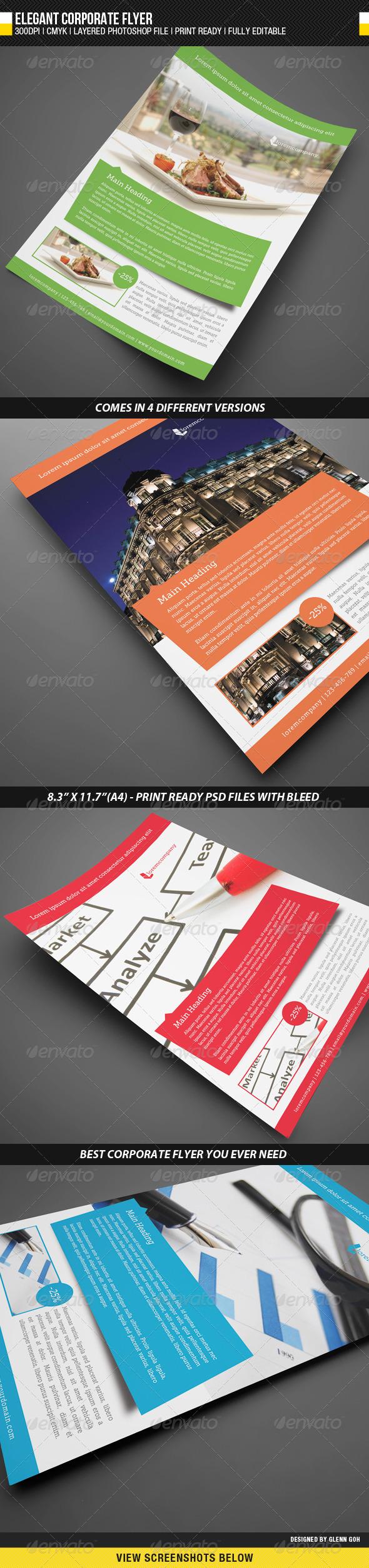 GraphicRiver Elegant Corporate Flyer 2013305