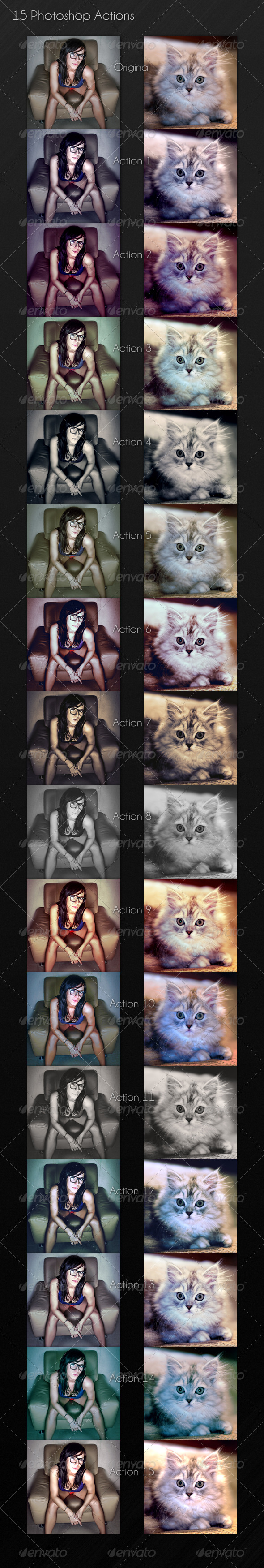 15 Photoshop Actions - Photo Effects Actions