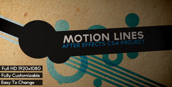 After Effects Project - VideoHive MOTION LINES 234107