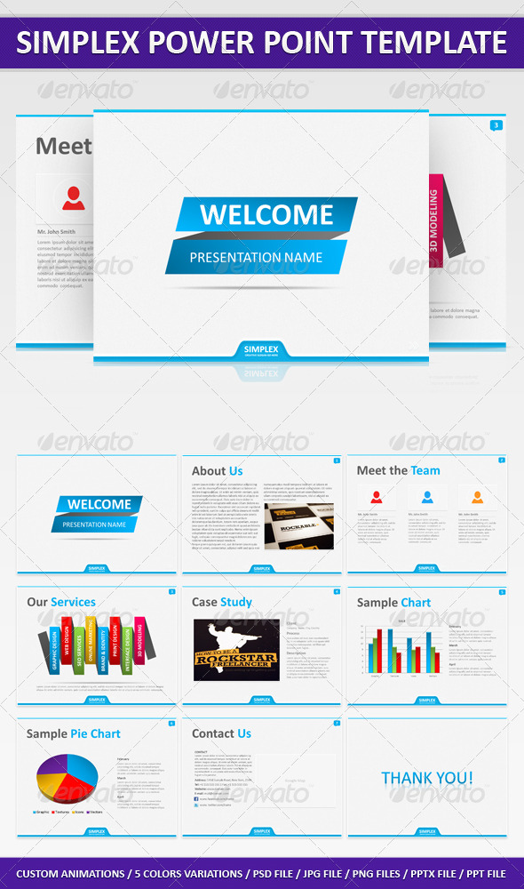 GraphicRiver Simplex Power Point Presentation 233416
