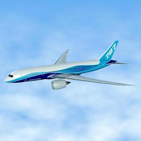 3DOcean Boeing 787 civilian jet 2014132