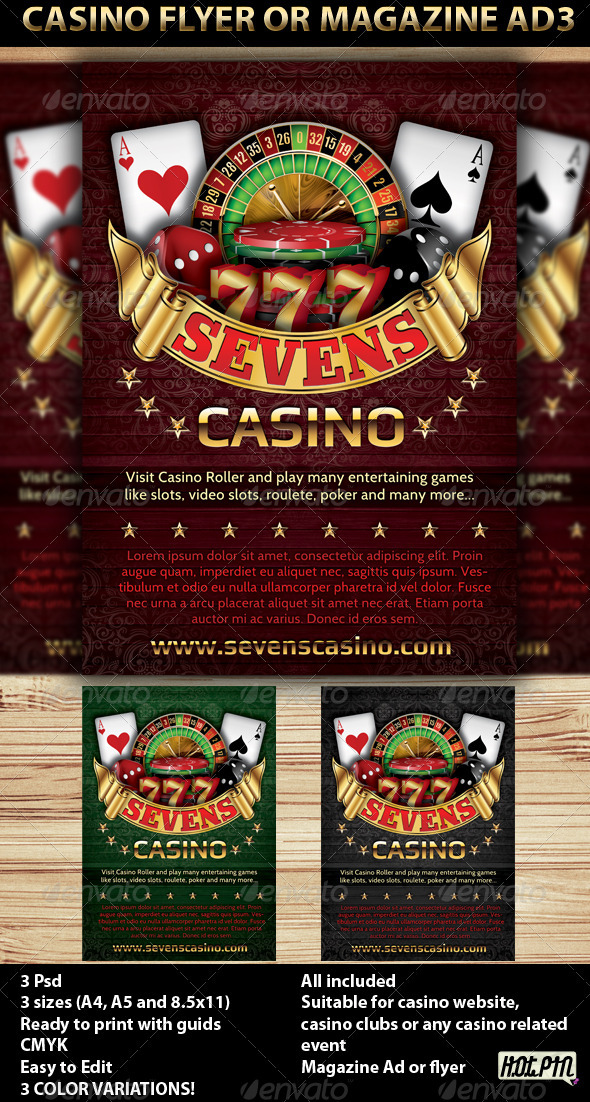 Casino Magazine Ads or flyers Templates 4 - Flyers Print Templates