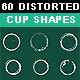Download Vector 60 Distorted Cup Shapes