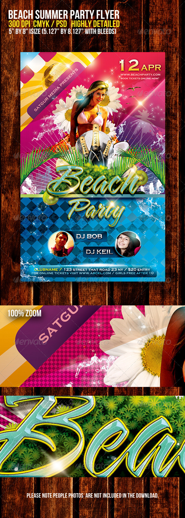 Beach Summer Music Dance Party Flyer V2 - Flyers Print Templates