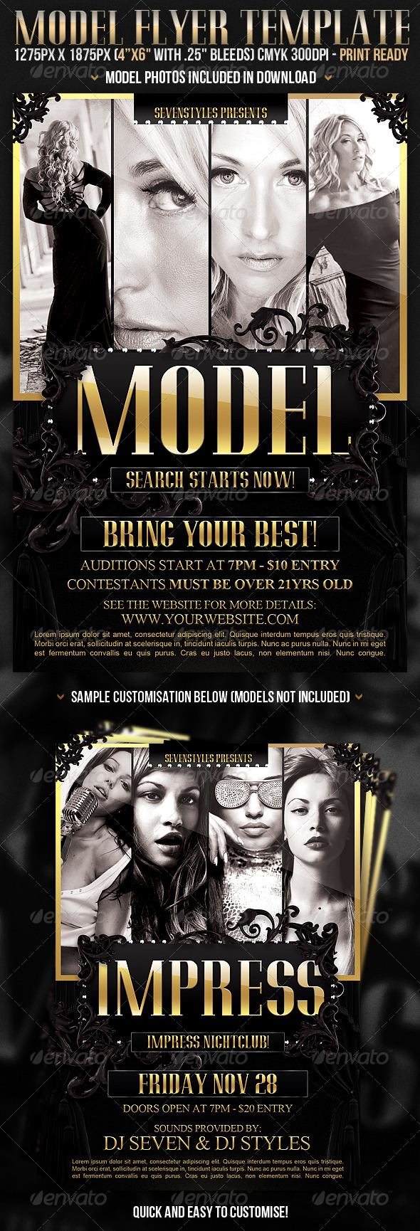 Model Flyer Template - Clubs & Parties Events