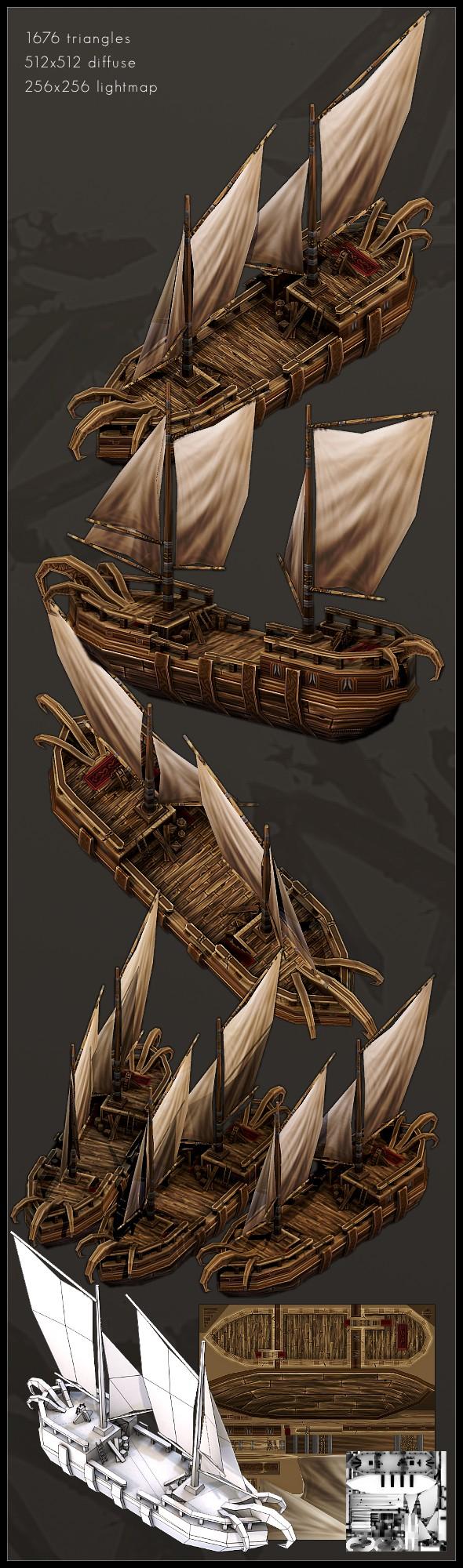 3DOcean LP Fantasy Boat 1 234314