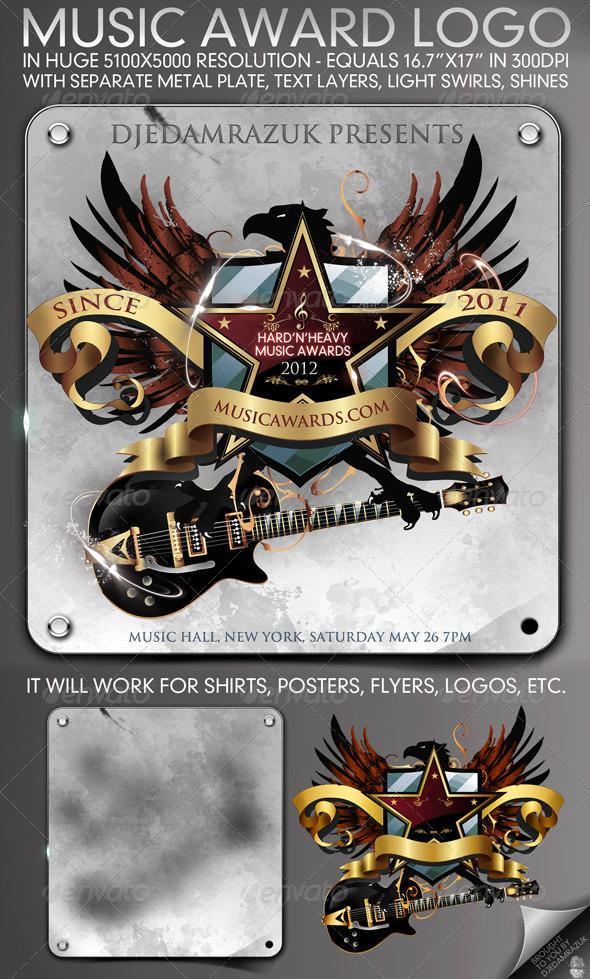 5100x5000 Music Award Emblem - Miscellaneous Graphics