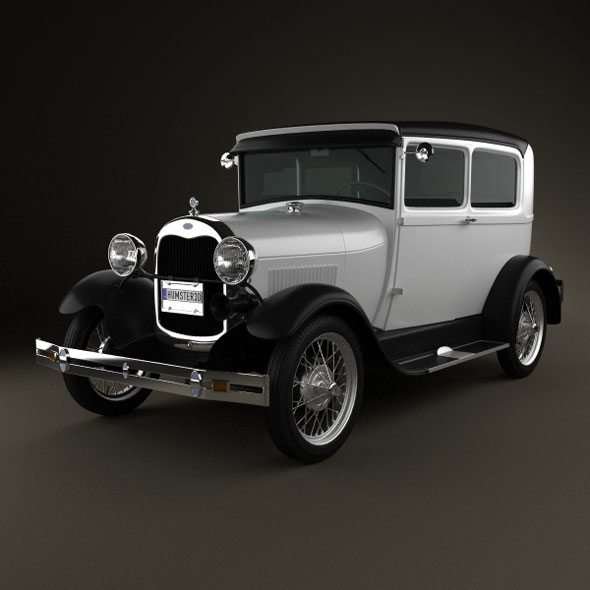 Ford Model A Tudor 1929 - 3DOcean Item for Sale