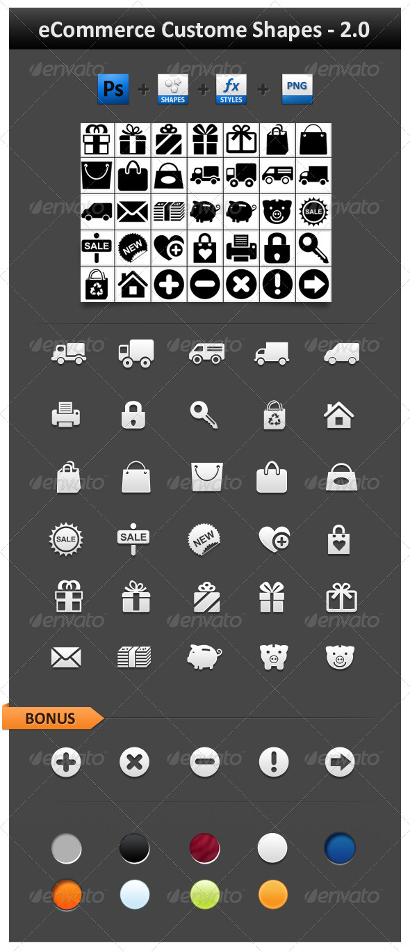 GraphicRiver eCommerce Custom Shapes 2.0 234411