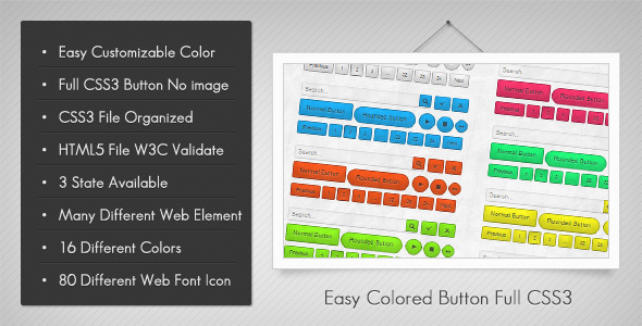 CodeCanyon Color Me Easily Button in Full CSS3 2016407