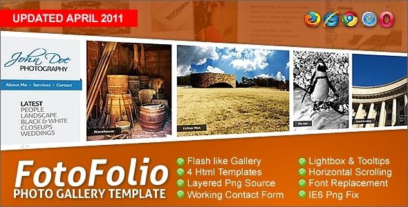 ThemeForest Fotofolio Premium Photography Portfolio Template 77470