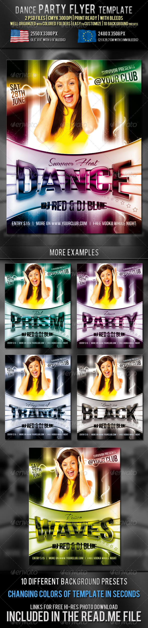 GraphicRiver Dance Party Flyer Template 234443