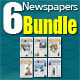 6 Berliner Sized Newspapers Bundle - GraphicRiver Item for Sale