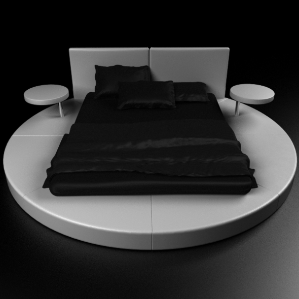 3DOcean Round Bed Contemporary 234576