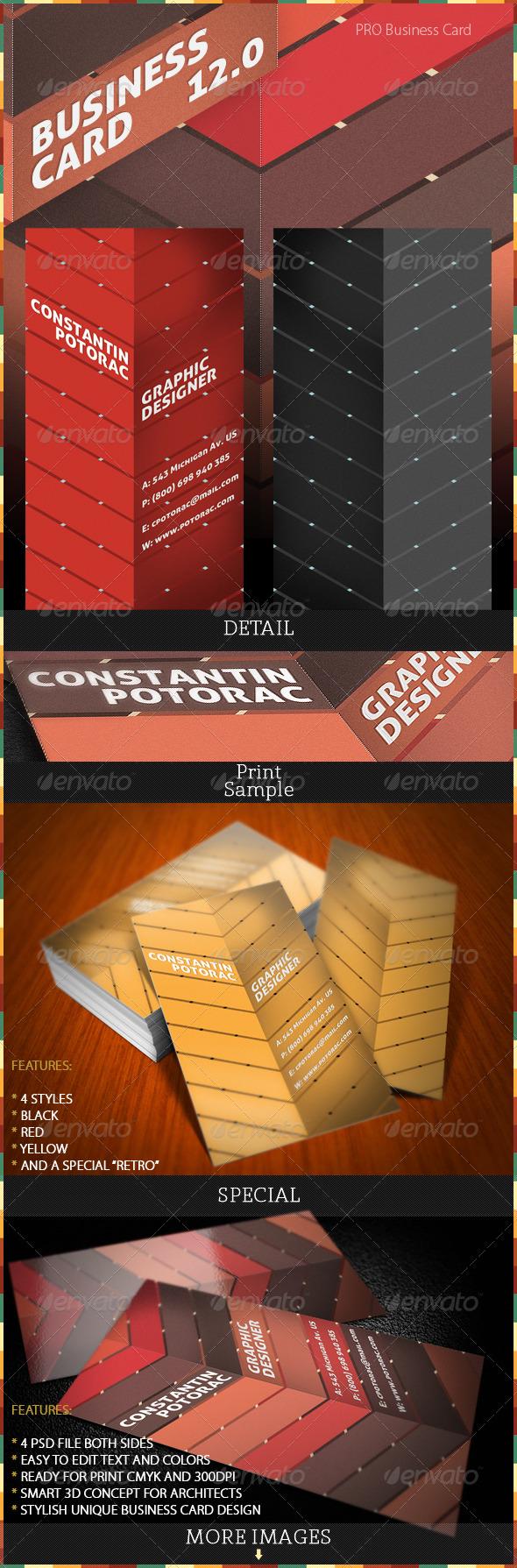 Pro Business Card 12.0 - Retro/Vintage Business Cards