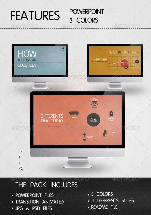 GraphicRiver Presentation Vintage Style Powerpoint 234645