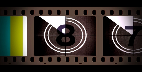 Film Reel Countdown With Alpha VideoHive Motion Graphic  Overlay  Other 2018815