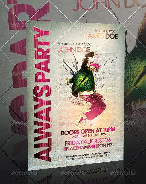 GraphicRiver Always Party Flyer Template 234732