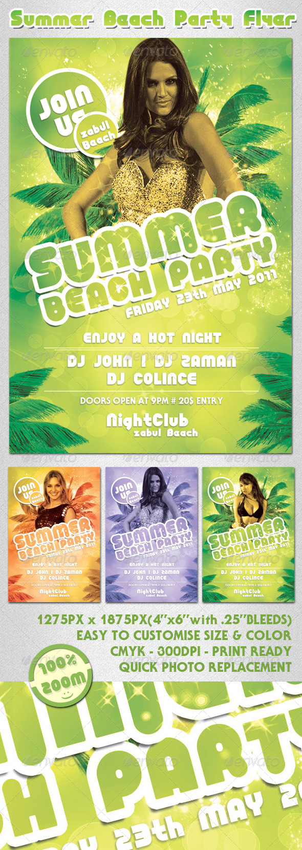 GraphicRiver Summer Beach Party Flyer 234739