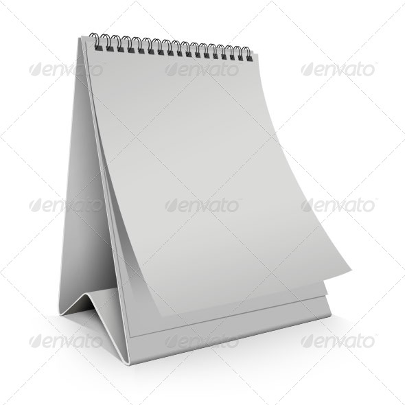 GraphicRiver Blank Desk Calendar vertical 233958