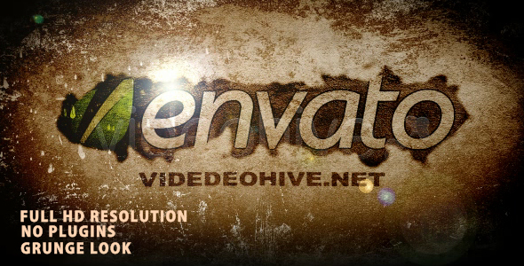 After Effects Project - VideoHive Grunge Typo Logo 234583