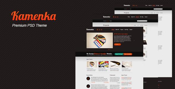 Kamenka Premium PSD Web Theme