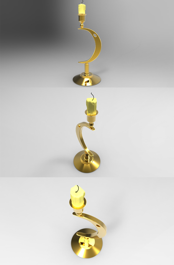3DOcean Candle 3D Models -  Deco Objects 234845