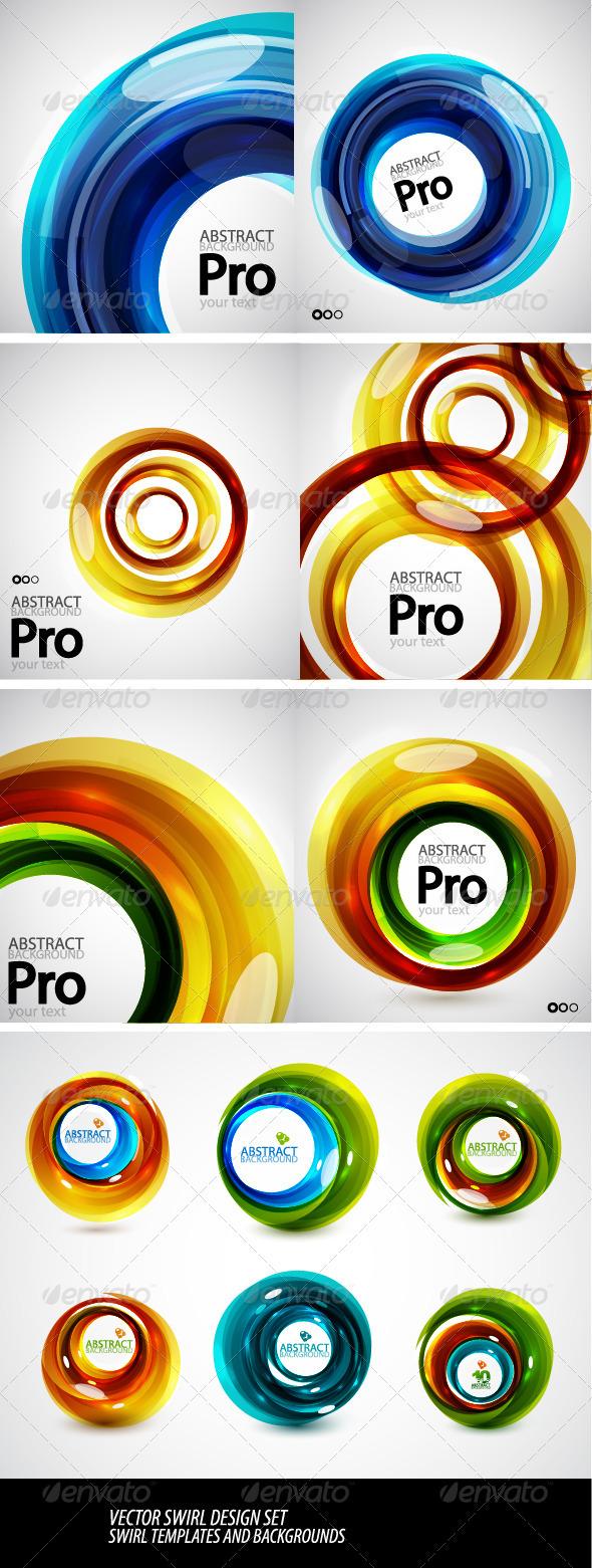 GraphicRiver Vector Swirl Templates 2020881