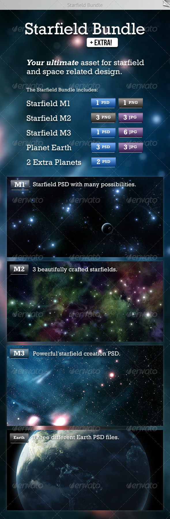 GraphicRiver Starfield Bundle 2020899