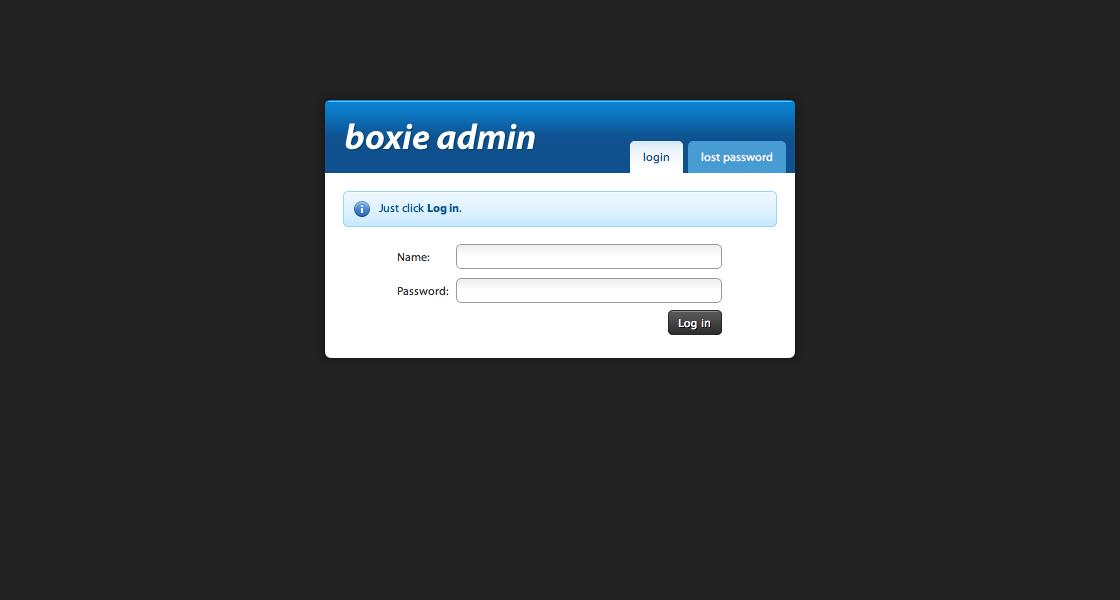 Boxie Admin