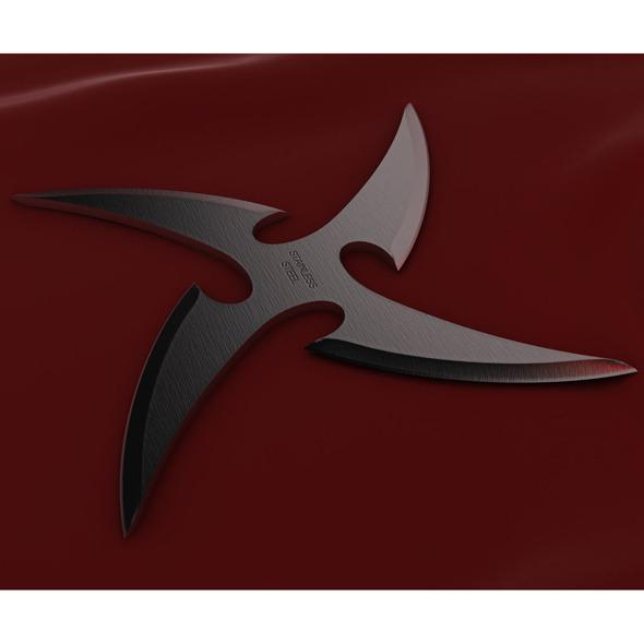 3DOcean 4 Point Curved Shuriken 2021065