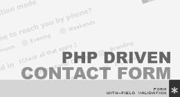 PHP driven contact form