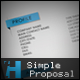 Simple Elegant Proposal Form with Business Cards!! - GraphicRiver Item for Sale