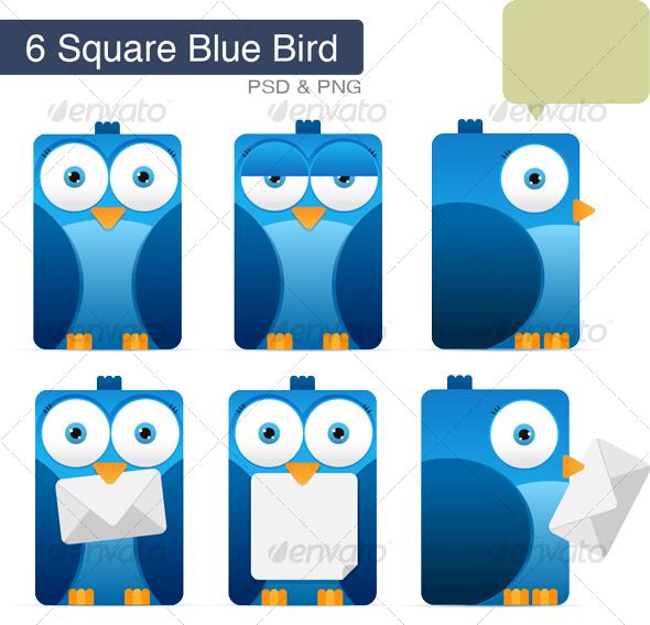GraphicRiver Square Blue Bird 76932