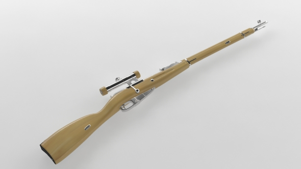 3DOcean Mosin Nagant Sniper Rifle 76558