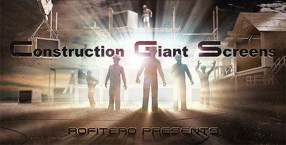 VideoHive Construction Giant Screens 2022753