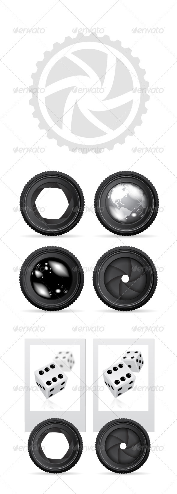 GraphicRiver Camera Lense Vesctor Set 2008343