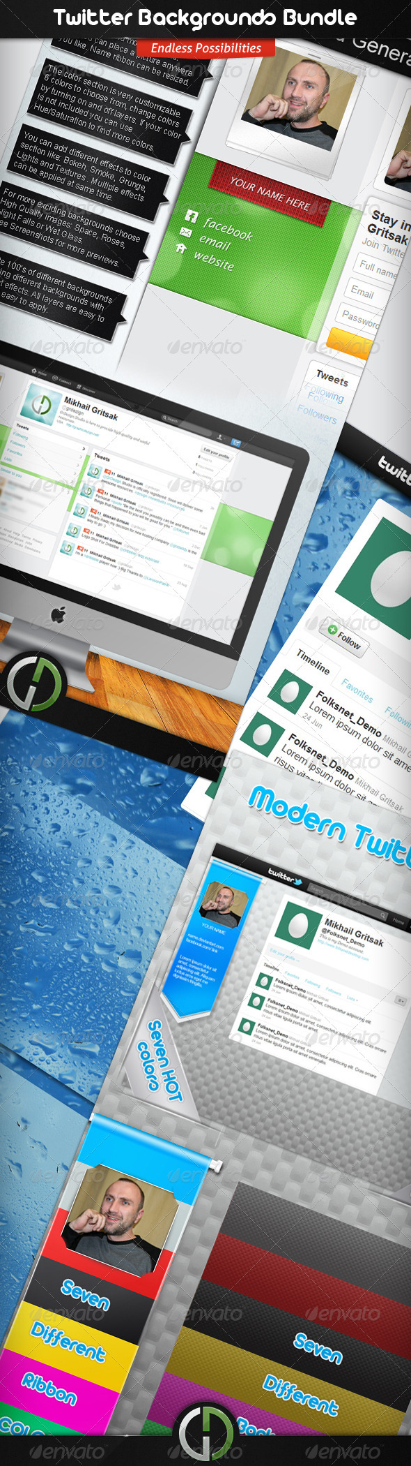 GraphicRiver Twitter Backgrounds Bundle 2022912