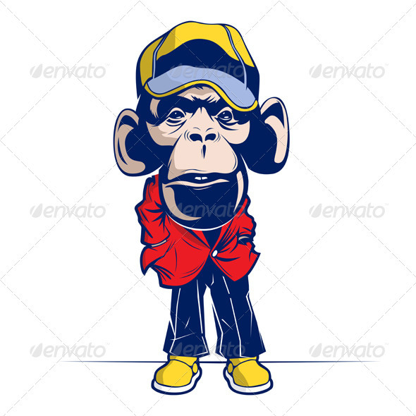Cartoon Mascot Monkey