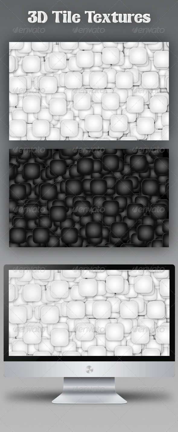GraphicRiver 3D Tile Textures 153044